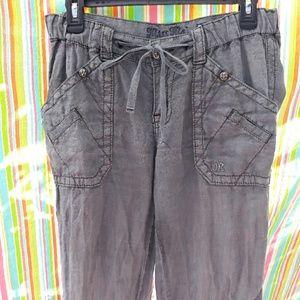Miss Me 100% Linen Cargo Pants